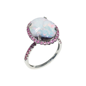 SWEET HARMONY 18kt WHITE GOLD OPAL RING