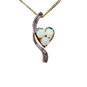 TRIO FALLS 9kt GOLD OPAL NECKLACE