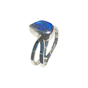 BLUE SYMPHONY STERLING SILVER OPAL RING