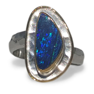 GALAXY BLUE OPAL RING
