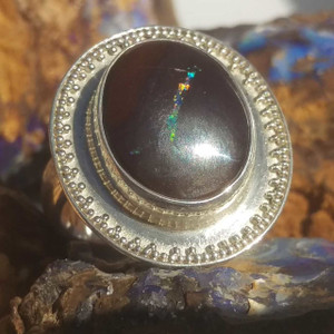 SOLID OPAL CIRCULAR RING