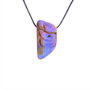 LIGHT PURPLE & BLUE BOULDER OPAL NECKLACE