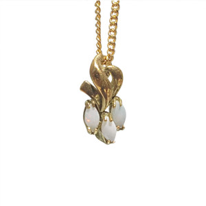 TRIPPLE WAVE 18kt GOLD PLATED OPAL NECKLACE