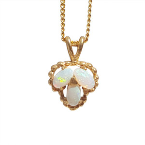 TRIFECTA SHIMMER 18kt GOLD PLATED OPAL NECKLACE