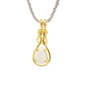 ROPED STONE 18kt GOLD PLATED OPAL NECKLACE