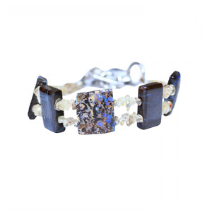 SOLID OPAL BRACELET WITH NATURAL TUMBLED ZIRCON