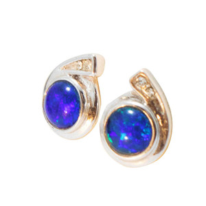 FLASH BALL STERLING SILVER OPAL EARRINGS