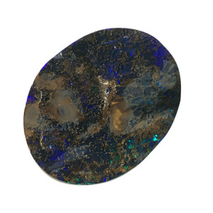 MYSTERIOUS SHINE  NATURAL SOLID AUSTRALIAN BOULDER OPAL LOOSE STONE