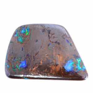 ELECTRIC EARTH  NATURAL SOLID AUSTRALIAN BOULDER OPAL LOOSE STONE