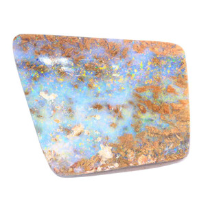 GOLDEN AMAZON  NATURAL SOLID AUSTRALIAN BOULDER OPAL LOOSE STONE