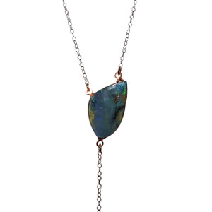 WONDERLAND FLASH 18kt ROSE GOLD PLATED OPAL NECKLACE