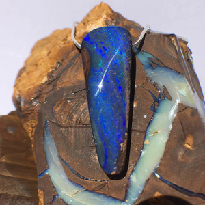 ELECTRIC BLUE NATURAL OPAL NECKLACE