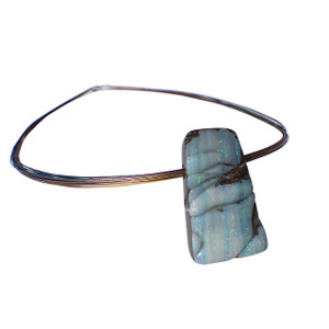 MILKY WHITE NIGHT SOLID BOULDER OPAL NECKLACE