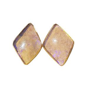 PASTEL PURPLE 18kt GOLD PLATED OPAL EARRINGS