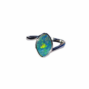 NIGHT GALAXY STERLING SILVER OPAL RING