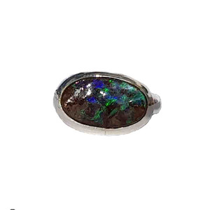 MIRACLE GREEN STERLING SILVER OPAL RING