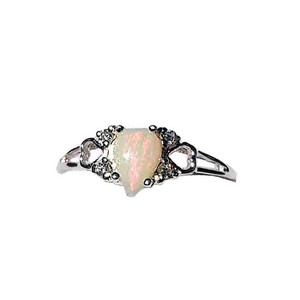 DESIRE OF LOVE WHITE OPAL STERLING SILVER RING
