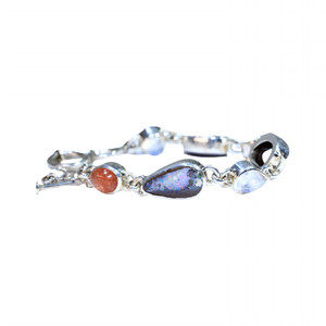 LOVE STERLING SILVER OPAL & GEMSTONE BRACELETS