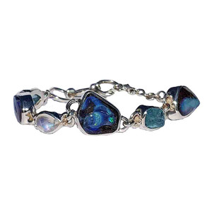 FRIENDSHIP STERLING SILVER GEMSTONE & OPAL BRACELET
