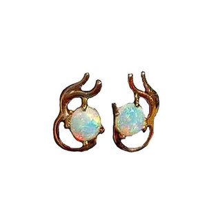 BLUE RADIANCE 9KT GOLD OPAL EARRINGS