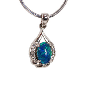 RICH FLASH CANDY STERLING SILVER NATURAL AUSTRALIAN OPAL NECKLACE