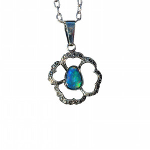 GREEN DESTINY NATURAL SOLID LIGHTNING RIDGE OPAL NECKLACE