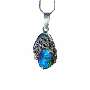 ISLAND PARADISE SOLID NATURAL BOULDER OPAL NECKLACE