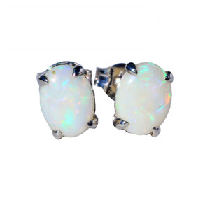 AMAZON WONDER18KT GOLD PLATED NATURAL AUSTRALIAN WHITE OPAL EARRINGS