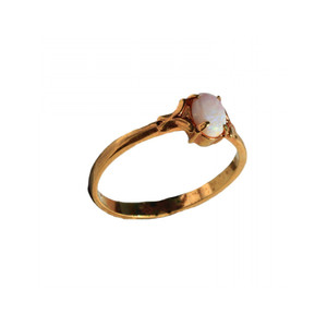 LILI 18KT GOLD PLATED AUSTRALIAN OPAL RING