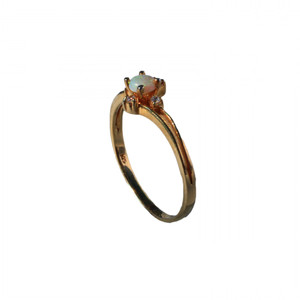 WHITE DAISY 18KT GOLD PLATED AUSTRALIAN OPAL RING