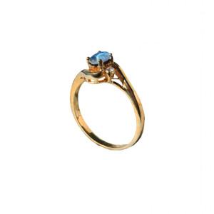 LARME BLEUE 18KT GOLD PLATED AUSTRALIAN OPAL RING