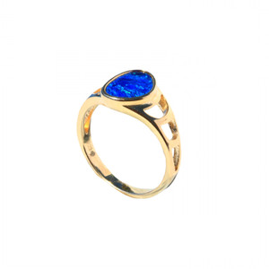 SKY SEARCH 18KT GOLD PLATED AUSTRALIAN OPAL RING