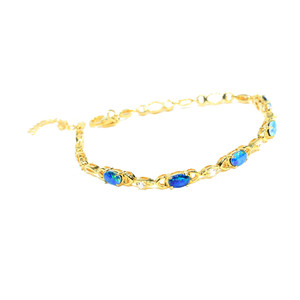 LOVE ARTIFACT 18kT GOLD PLATED NATURAL AUSTRALIAN OPAL BRACELET