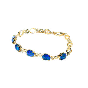 ETERNAL BLISS 18kt GOLD PLATED NATURAL AUSTRALIAN OPAL BRACELET