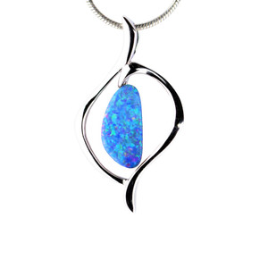TROPICAL EXPLOSION STERLING SILVER NATURAL AUSTRALIAN OPAL NECKLACE