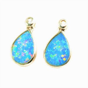 1 CANDY LAND LANE STERLING SILVER AUSTRALIAN OPAL EARRINGS