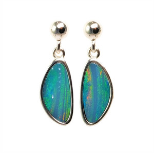SURPRISE ADVENTURE STERLING SILVER AUSTRALIAN OPAL EARRINGS
