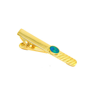 DEEP OCEAN SURPRISE MEN'S AUSTRALIAN BLACK OPAL TIE BAR