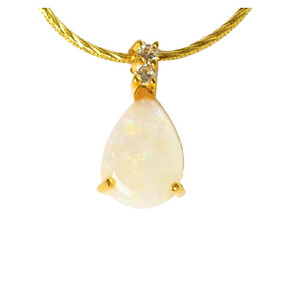 1 RADIANT LOVE 18KT GOLD PLATED NATURAL AUSTRALIAN OPAL NECKLACE