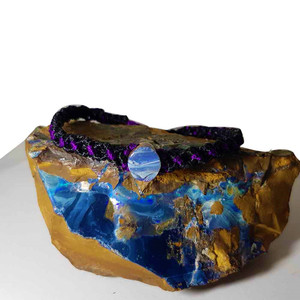 EVENT HORIZON NATURAL AUSTRALIAN SOLID BOULDER OPAL DRILLED BRACELET