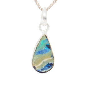 NILE RIVER NATURAL AUSTRALIAN SOLID BOULDER OPAL NECKLACE