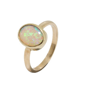 ROYAL CROWN 9KT GOLD  NATURAL AUSTRALIAN SOLID BOULDER OPAL RING