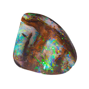 ELECTRIC GARDEN NATURAL SOLID AUSTRALIAN BOULDER OPAL LOOSE STONE