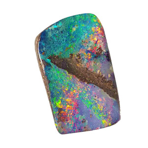 POWDER CANDY FLASH NATURAL SOLID AUSTRALIAN BOULDER OPAL LOOSE STONE