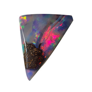 A RAINBOW MOUNTAIN NATURAL SOLID AUSTRALIAN BOULDER OPAL LOOSE STONE