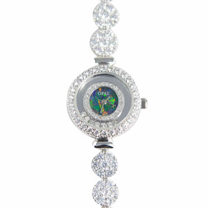 1 ABUNDANT LOVE STERLING SILVER GENUINE AUSTRALIAN FINE OPAL WATCH