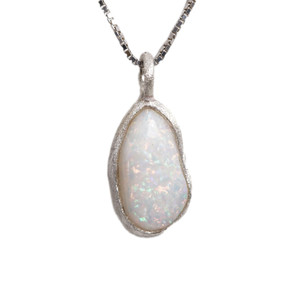 MOTHERS NATURE AUSTRALIAN WHITE OPALIZED SHELL NECKLACE