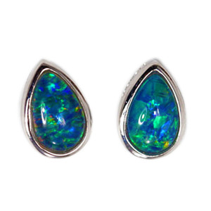 EARTHS ORBIT STERLING SILVER AUSTRALIAN OPAL EARRINGS