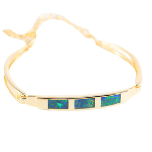 NATURES WONDERLAND18kt GOLD PLATED GENUINE OPAL BRACELET