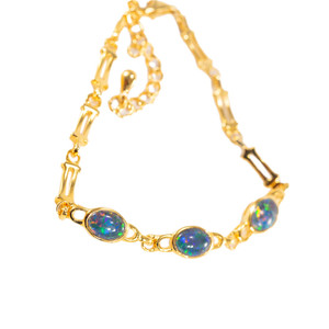 ETERNAL PASSION 18kt GOLD PLATED GENUINE AUSTRALIAN OPAL BRACELET